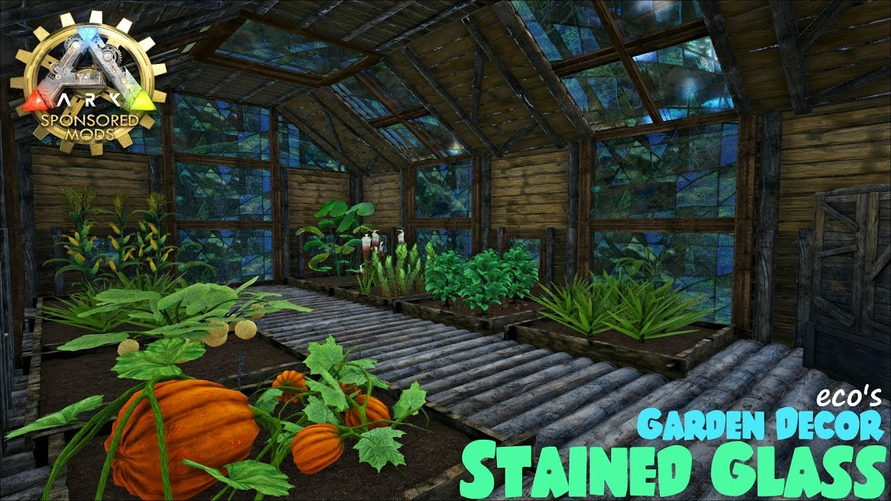 Ecou0027s Garden Decor | Stained Glass Greenhouse | ARK Sponsored Mod