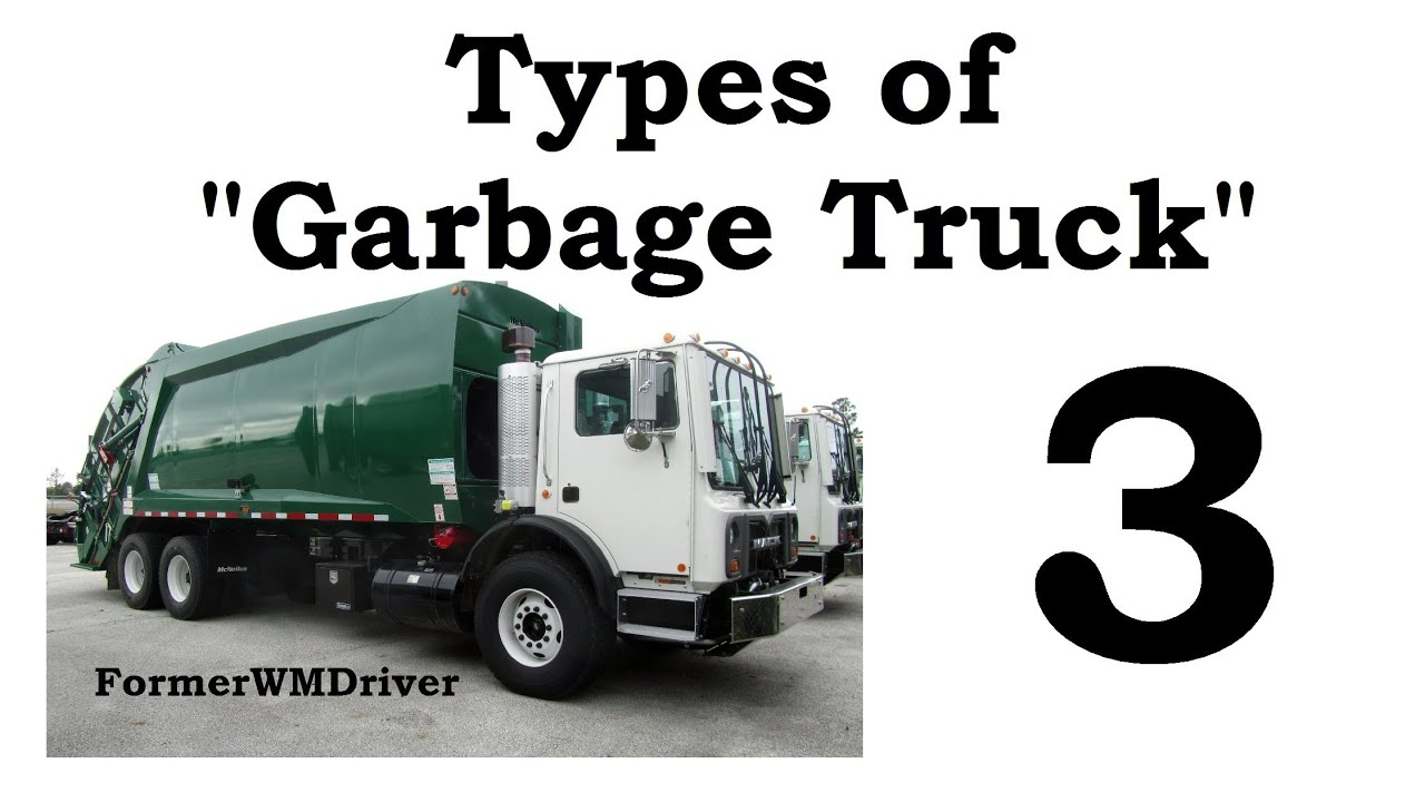 Types of Garbage Truck 3  YouTube