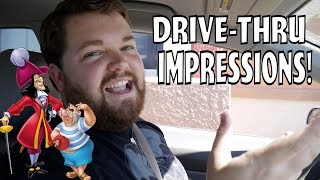 Captain Hook and Mr. Smee at the Drive-Thru - Drive-Thru Impressions