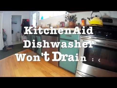 unclog dishwasher | 10 minute Fix: KitchenAid Dishwasher Won't Drain (How to ...