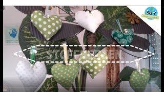 Stoffherzen, Dekoration zum Muttertag, Hochzeit, Valentinstag aus Stoffresten I DIY Eigen Kreationen