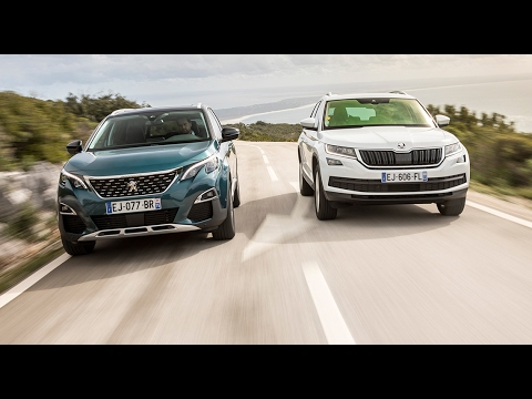 2017 peugeot 5008 2 vs skoda kodiaq comparatif video w eng subs le duel des suv 7 places. Black Bedroom Furniture Sets. Home Design Ideas