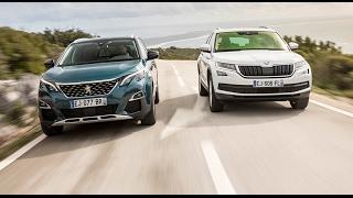 2017 Peugeot 5008 2 vs Skoda Kodiaq [COMPARATIF VIDEO w/ENG subs] : le duel des SUV 7 places