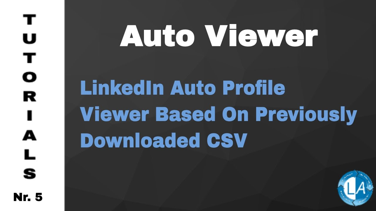 LinkedIn Auto Profile Viewer - Auto-Visit Profiles - Based on Previously  Downloaded CSV