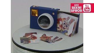 видео как сделать фотоаппарат из бумаги