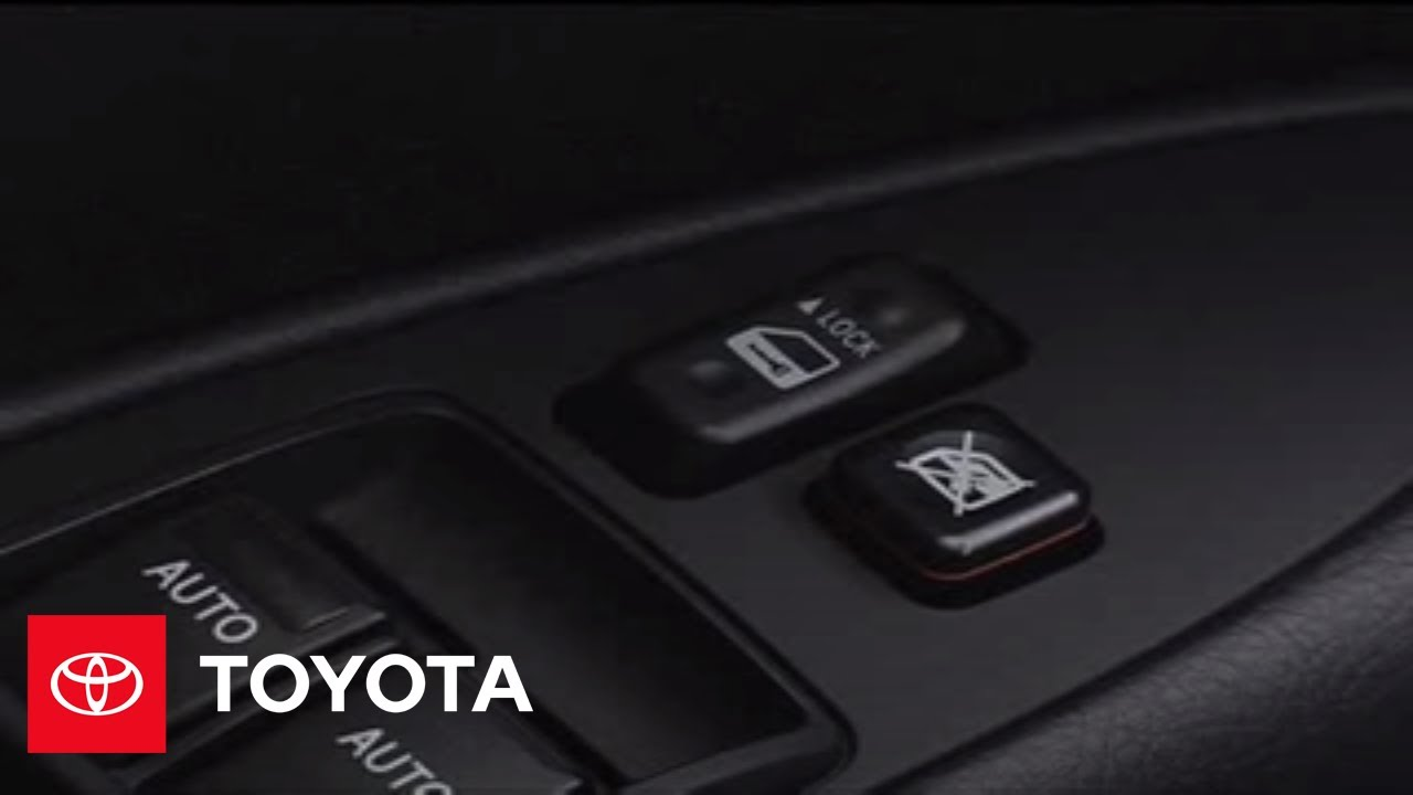 2005   2007 Avalon How To: Power Windows   Operating The Window Lock Switch  | Toyota