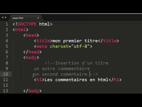 Tuto Htmlcss Les Commentaire