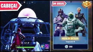 BATTLE PASS SKINS 10 and GIANT ROBOT HEAD AT FORTNITE!