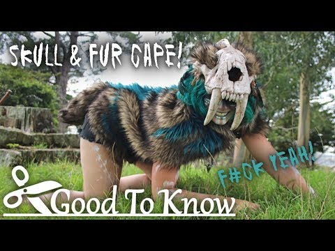 Tribal Skull Fur Cape ~ Good To Know #7