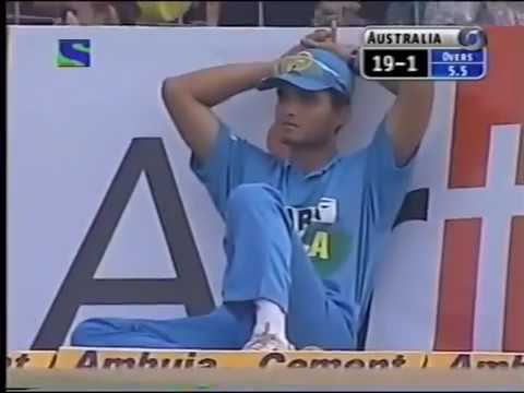 Ganguly Cannot Belive What Laxman Is Doing Haha