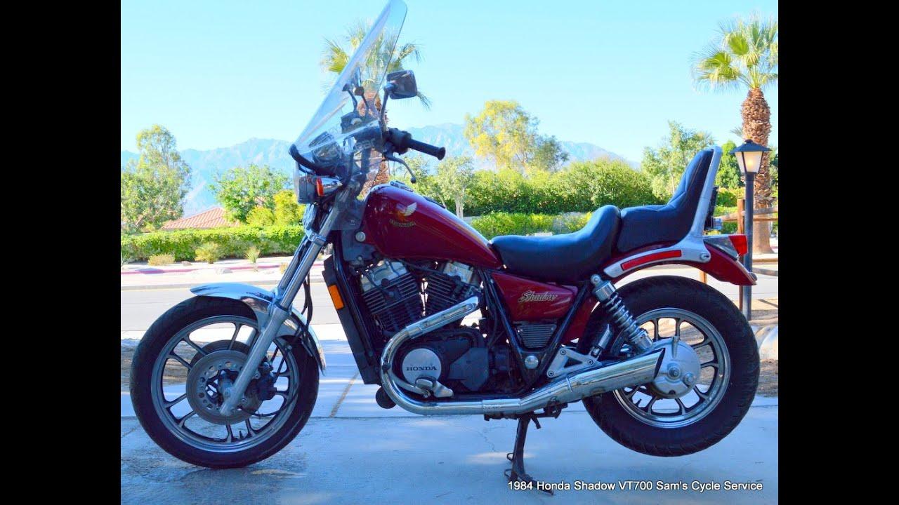 1984 Honda Shadow VT700 For Sale www.samscycle.net - YouTube