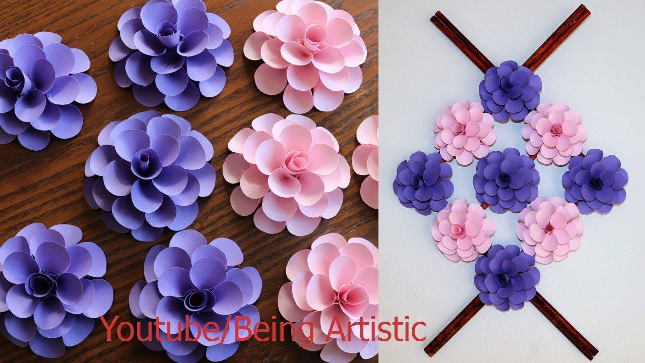 Wall Decoration With Paper Flowers