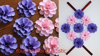 Paper Wall Hanging Craft Ideas - Paper Flower - Paper Craft - Wall Decoration Ideas