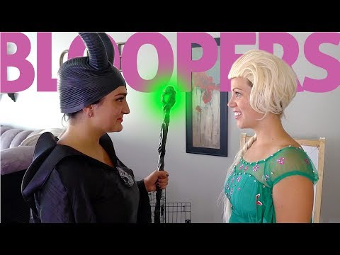 Elsa vs Maleficent Real Life BLOOPERS Outtakes, GUMMY BEAR Sucker, Magic Powers | Twin Family Fun