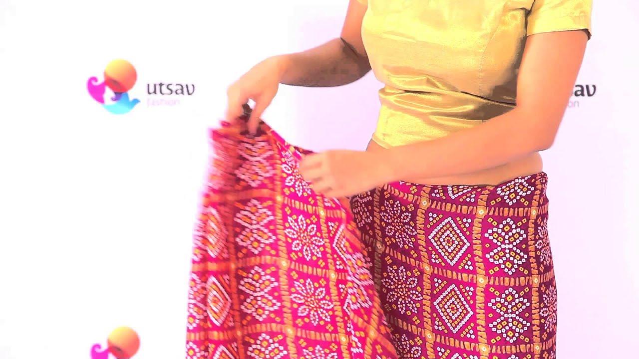 How to wear Gujarati style Saree in the DIY Way