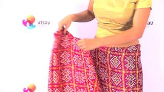 How to wear Gujarati style Saree in the DIY Way