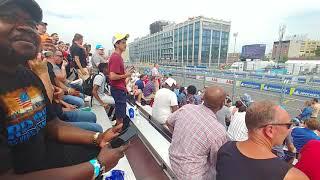 Formula E racing Red Hook. Brooklyn