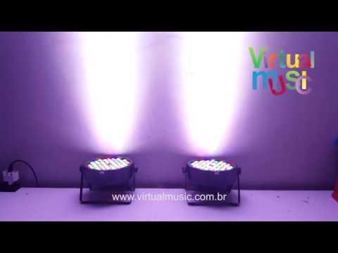 Canhao Refletor Par 64 54 Leds 3w Rgbwa Dmx Dsp Digital - Www.virtualmusic.com.br