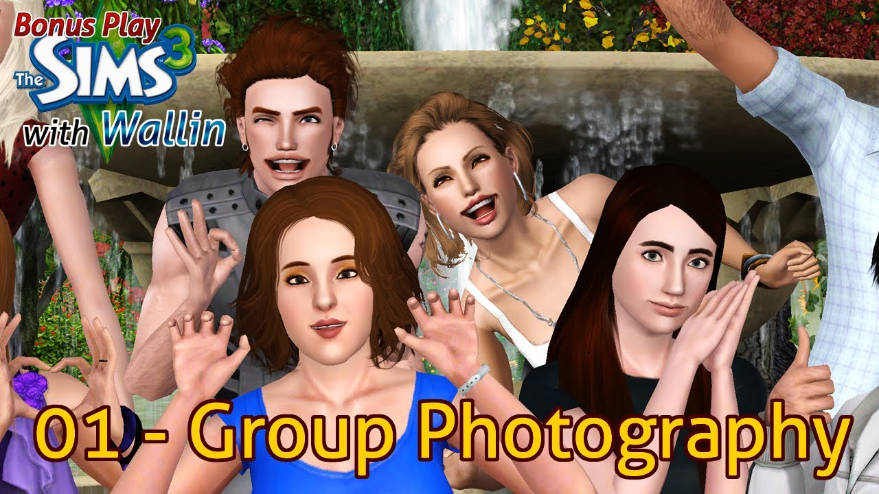 Let's Play: The Sims 3 - Bonus 01 - Group Photography - YouTube
