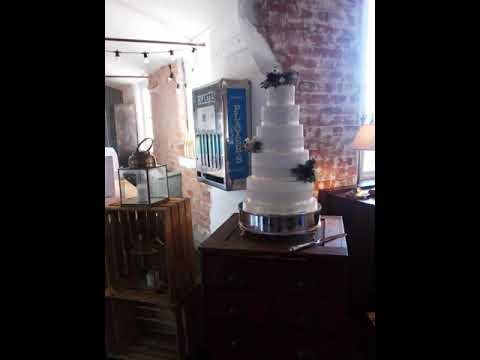 Five tier wedding cake by Southwell Cakery at The West Mill, Derby