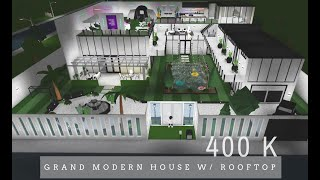 Bloxburg Haus Tour: Grand Modern House w / Dach | Roblox