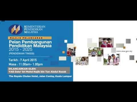 Promo Majlis Pelancaran Pelan Pembangunan Pendidikan Malaysia 2015 2025 Pendidikan Tinggi Youtube