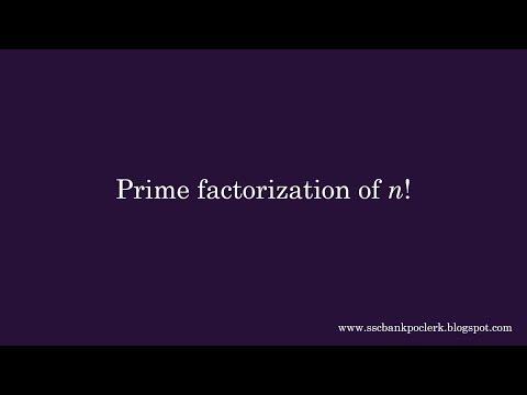 Prime Factorization Of N!