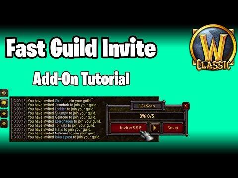 MUST HAVE Guild Invite Add-On (Fast Guild Invite) - WoW Classic / BfA