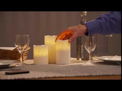 Fantastisk Blockljus med LED - tänds och släcks med fjärrkontroll. - YouTube CP-68