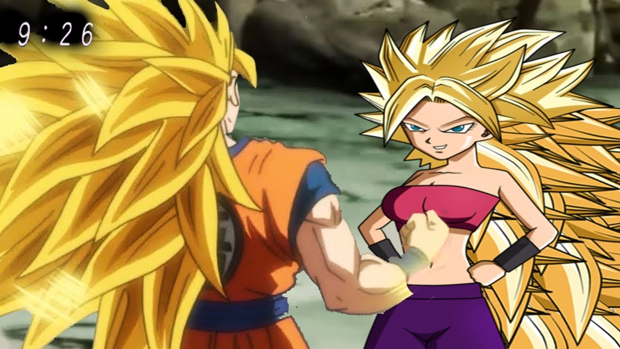 goku shows caulifla and kale super saiyan 3 dragon ball super