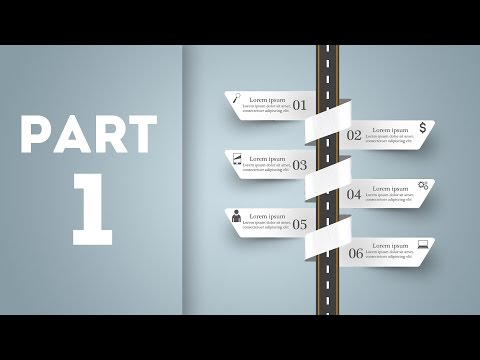Photoshop Tutorials - Abstract 3D digital Photoshop Infographic. : Part 1