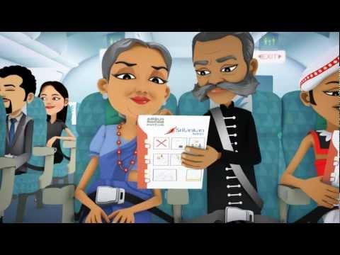 Sri Lankan Airlines In Flight Safety Film