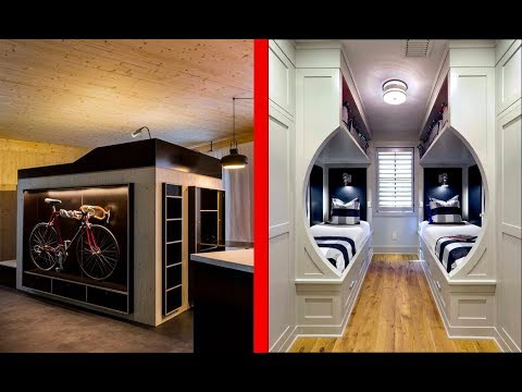 INCREDIBLE BedRooms In Small Spaces │Space Saving Furniture ! - YouTube