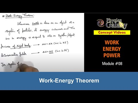 8. Physics | Work Energy Power | Work-Energy Theorem | by Ashish Arora