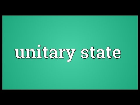 Unitary state Meaning