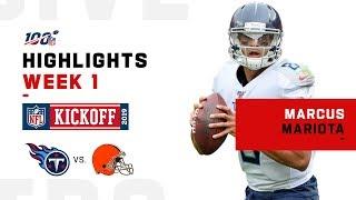 Mariota Lights Up Browns D for 3 TDs | NFL 2019 Highlights