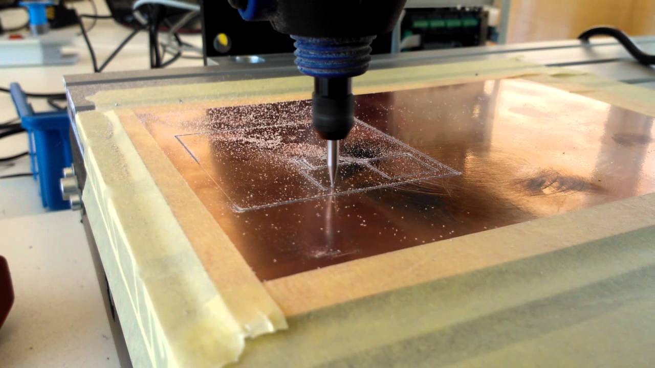 First Circuit Board With Cnc Machine Youtube Circuitboardtablejpg