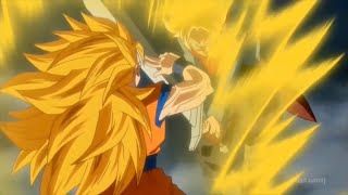 SSJ2 Trunks vs SSJ3 Goku!