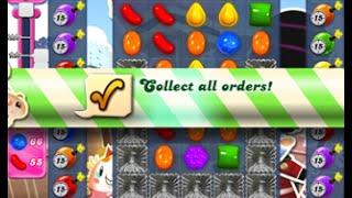 Candy Crush Saga Level 394 walkthrough (no boosters)