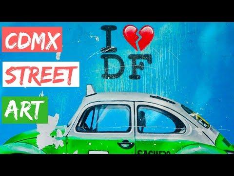 AMAZING Mexico City Street Art // Gringos in Mexico City Vlog