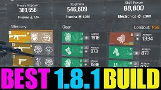 THE DIVISION - THE ULTIMATE 1.8.1 BUILD! BEST DPS, TOUGHNESS & SKILL POWER BUILD