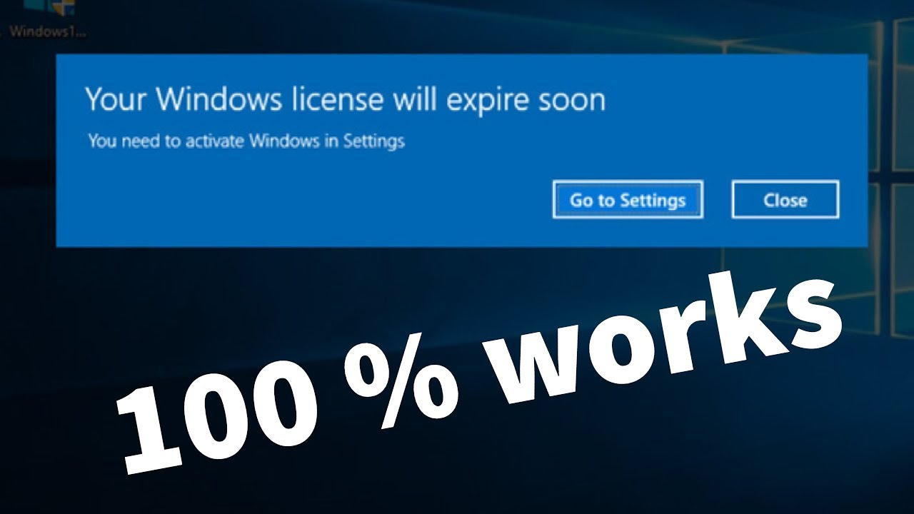 license windows 10 expired