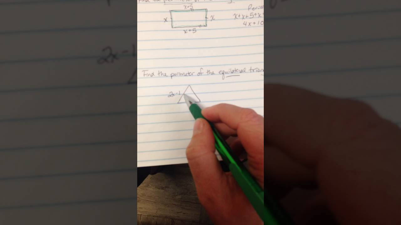 Perimeter With Variables