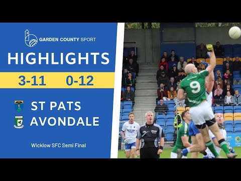 SFC Semi Final St Pats V Avondale 28/9/2019