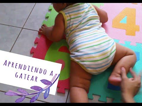 Como ensenar a gatear a mi bebe de 6 meses