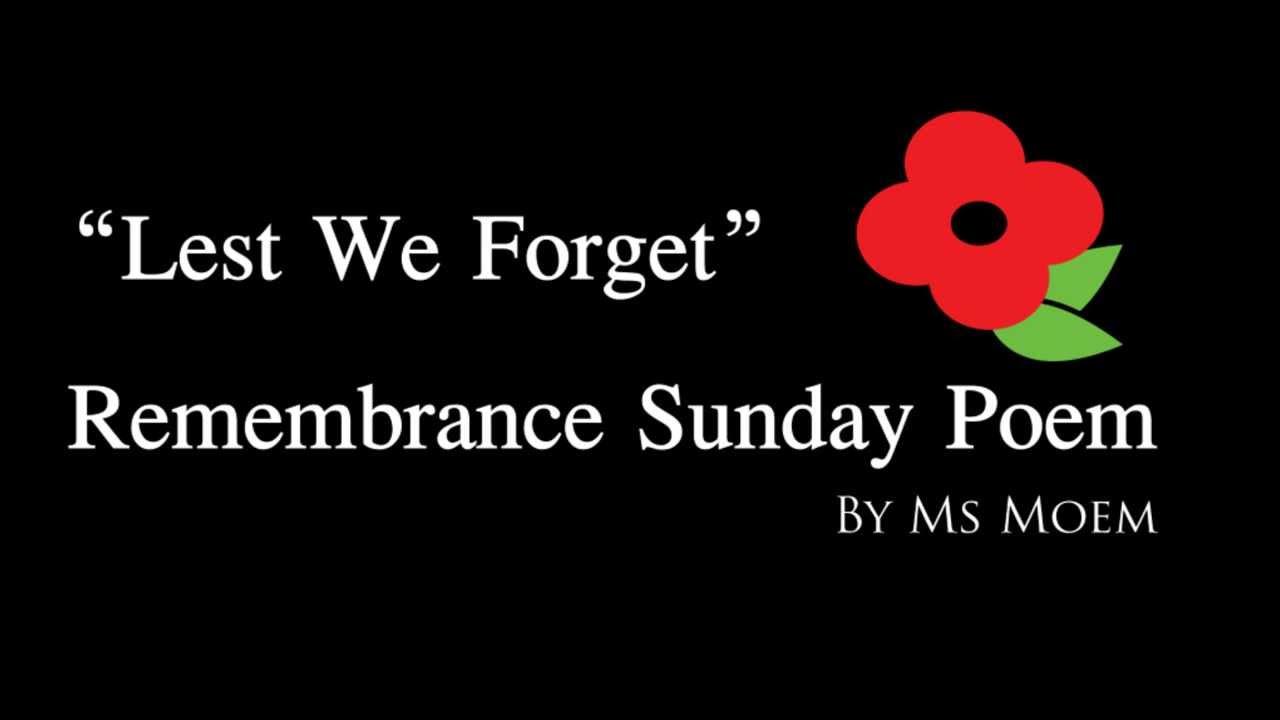 Remembrance Sunday Poem Remembrance Day