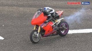 FAST NITRO RC MOTORBIKE races ELECTRIC RIDERS: Cotswold MCC
