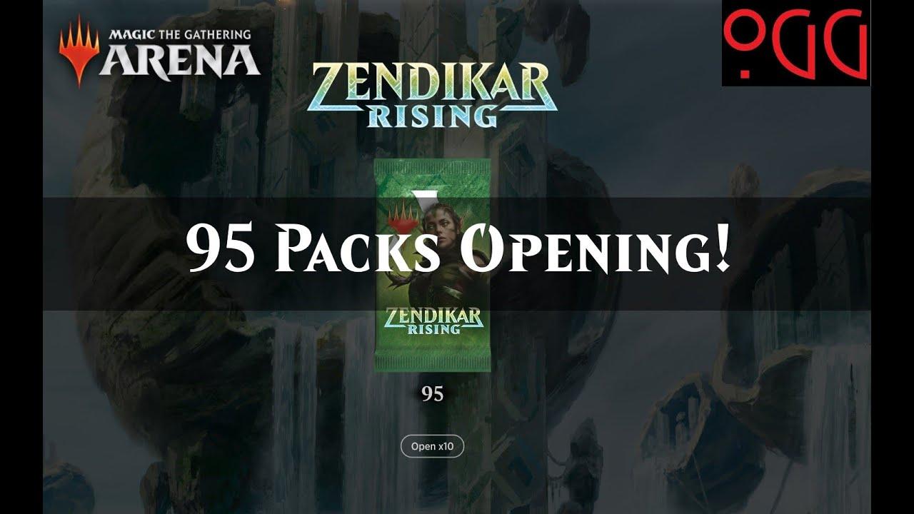 MTG: Arena Zendikar Rising - 95 Pack Opening + Codes