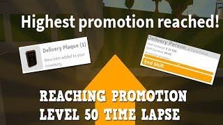 Reaching Promotion Level 50 Timelapse!| Roblox bloxburg