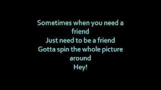 Barbie movie song: Be a friend lyrics